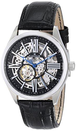 Thomas Earnshaw Men's ES-8037-01 Armagh Analog Display Automatic Self Wind Black Watch