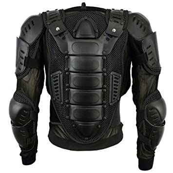 Mens Body Armours Motorcycle CE Approved Motorbike Chest Shoulder Back Guard Protector Armors Spine Protection Jacket Green 3XL