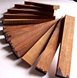 "12 Teak Wood Boards. Exotic lumber from Thailand. Each board is about 7/8"" x 2.25"" x 14"" (12 boards)"
