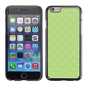 Modelo de lunares verde musgo blanco- Metal de aluminio y de plástico duro Caja del teléfono - Negro - Apple (5.5 inches!!!) iPhone 6+ Plus / 6S+ Plus