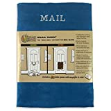 SNAIL SAKK: Post Catcher For Letterboxes - BLUE. No tools/screws needed! Space efficient, reduces drafts, protects privacy and much more. For home, office, and garage doors. ( Basket Letter Cage Mail Box Disabled Elderly Maternity Hardware Excluder Opener ) …