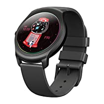 Ticwatch 2 Active 42mm Ultra Light, Silky Smooth Smartwatch-Charcoal-Mobvoi Voice Control Ticware OS Compatible with Android and iOS, Your Smart Fitness Companion