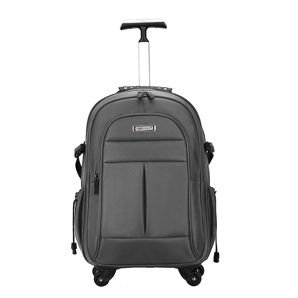 トロリーバックパックホイルラップトップカレッジバックパック、ローリングスクールバッグ、ビジネスバックパック、旅行のバックパックをウィールドローリングバックパック  A B07MPB6H46