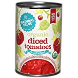 organic canned tomatoes bpa free - Natural Value Organic Diced Tomatoes, No Salt, 14.5 Ounce (Pack of 12)