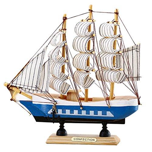 VORCOOL - Adorno de Madera para Barco Marinero, Estilo mediterráneo, Modelo de Barco Marinero, Manualidades de Madera,...