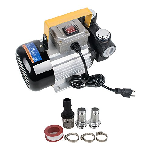 Pump Ac 12v Transfer (Funwill 110V AC 15.75 GPM Eletric Oil Diesel Fuel Transfer Pump Self Priming 60L/min 550W)