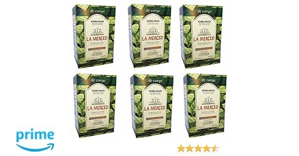 Amazon.com : La Merced De Campo Yerba Mate 500 g (1.1 lbs) 6 Pack : Grocery & Gourmet Food