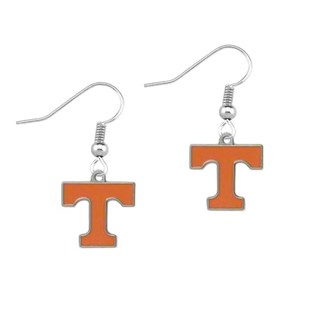University of Tennessee Volunteers T Logo Dangle Earrings