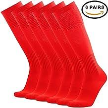 Tattoo Soccer Socks, 3street Unisex Knee-High Printed Tube Socks 2/6 Pairs