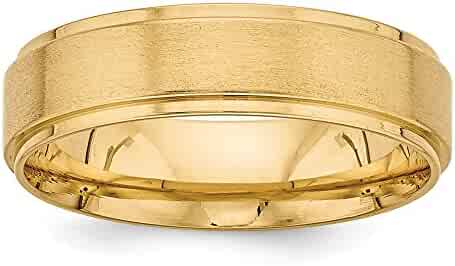 14k Yellow Gold Standard Comfort Fit Fancy Wedding Band