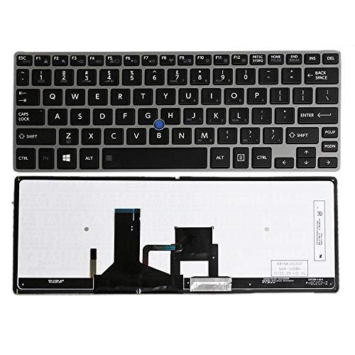 Toshiba Portege Keyboard - GinTai US Layout Backlit Keyboard Replacement for Toshiba Portege Z30 Z30-A Z30-A1301 Z30-A1301L Z30-A1310 Z30-A1302 Z30T Z30T-A Z30T-A1310 Z30-B1320 NSK-V10BN 9Z.NAJBN.001
