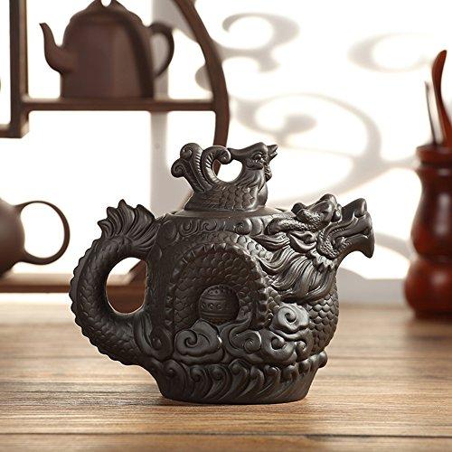 XDOBO Tea pot Dragon and Phoenix Ceramic Chinese Traditional Kung Fu Teapot