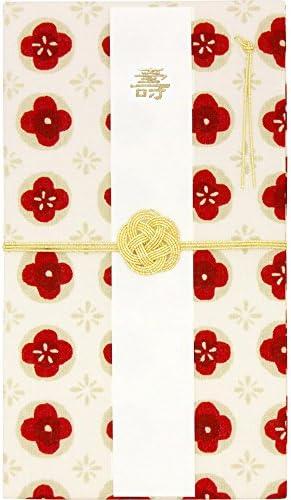 [スポンサー プロダクト]濱文様 てぬぐいはんかちで作った 金封 ほんのり小花 オフ