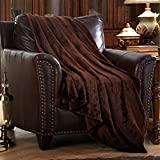 MERRYLIFE Decorative Throw Blanket Ultra-Plush Comfort | Soft, Colorful, Oversized | Home, Couch, Outdoor, Travel Use | Large Size (90'' 90'', BROWN)
