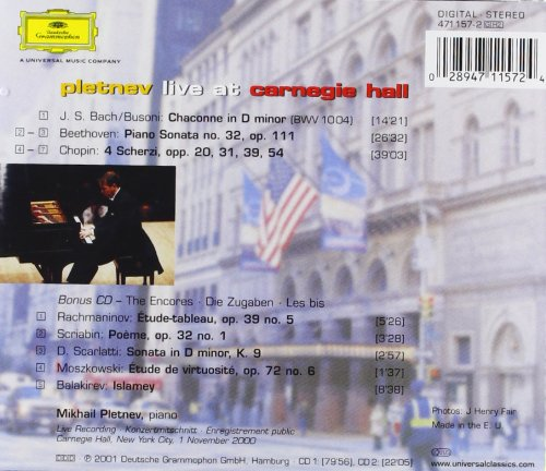 Pletnev Live at Carnegie Hall
