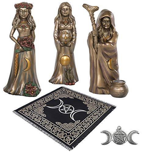 Sarimoire Altar Tarot Cloth Triple Goddess 3 Piece...