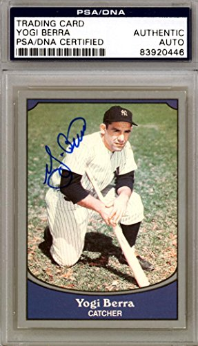Yogi Berra Autographed 1990 Pacific Card #7 New York Yankees #83920446 - PSA/DNA Certified - Baseball Slabbed Autographed Cards