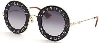 Gucci GG0113S 001 Gafas de sol, Negro (Black/Grey), 44 para Mujer