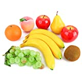 Biowow Plastic Fake Mixed Fruit Decoration Artificial Fruit Set for Home Decor/Teaching /Photography Props,Set of 10