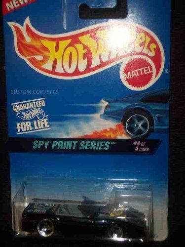 (Spy Print Series #4 Custom Corvette 3-Spoke No Name On Base 1st Base #556)