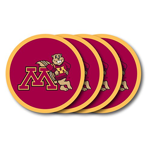 NCAA Minnesota Golden Gophers Vinyl Coaster Set (Pack of 4) - Minnesota Golden Gophers Coaster