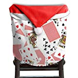 Poker Pattern Christmas Chair Covers Unique Easy To Carry Chair Covers For Christmas For Men And Women Chair Back Cover Christmas Holiday Festive