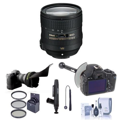 Nikon 24-85mm f/3.5-4.5G ED AF-S VR Nikkor Lens Bundle. USA. Value Kit with Acc by Nikon