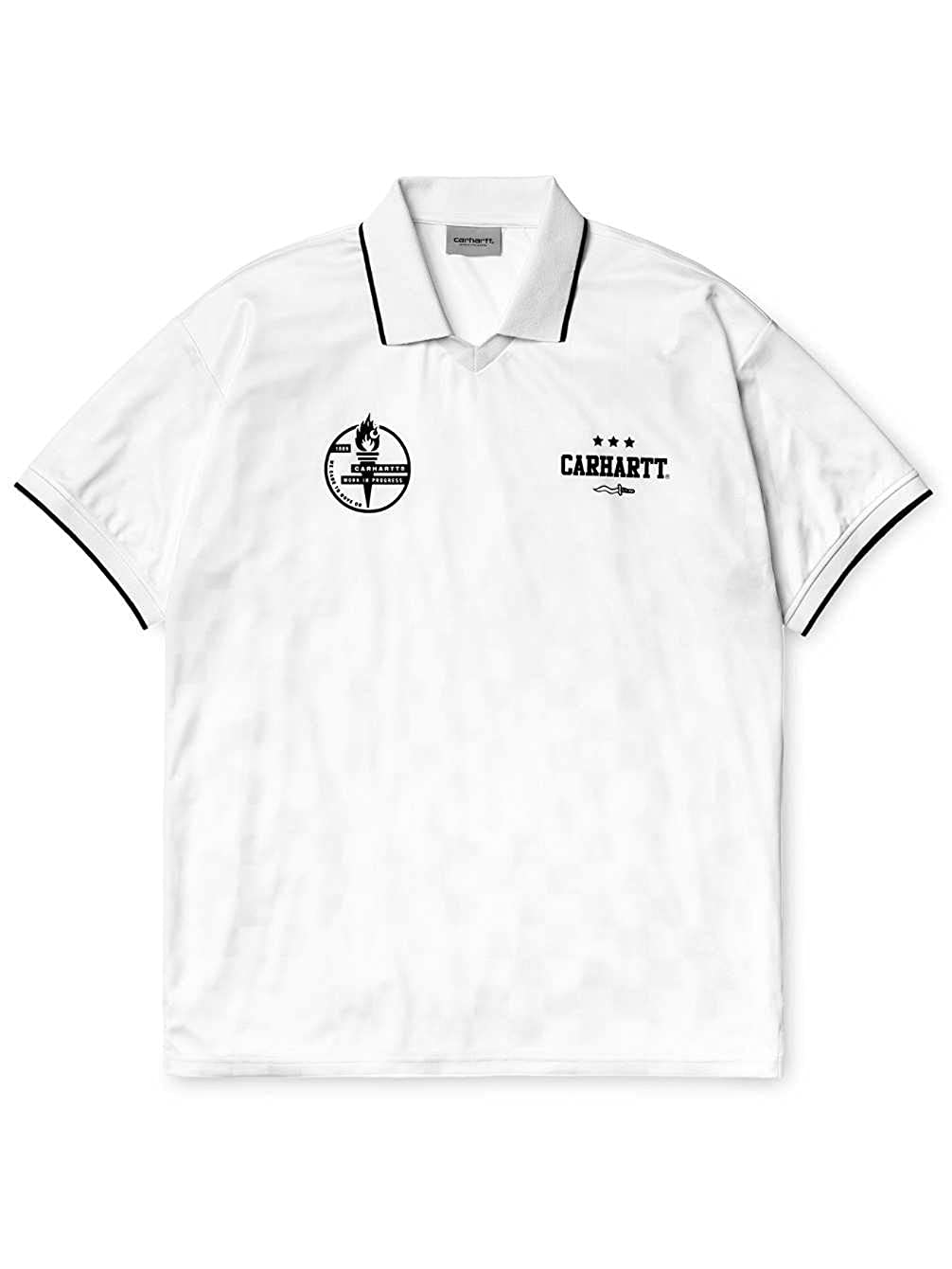 Carhartt - Camiseta - para hombre blanco/negro M: Amazon.es: Ropa ...
