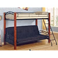 Coaster Furniture Twin over Futon Bunk Bed in Black Haskell CO2249