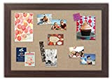 Framed Fabric Bulletin Board with Montauk Boardwalk Frame / Burlap Fabric
