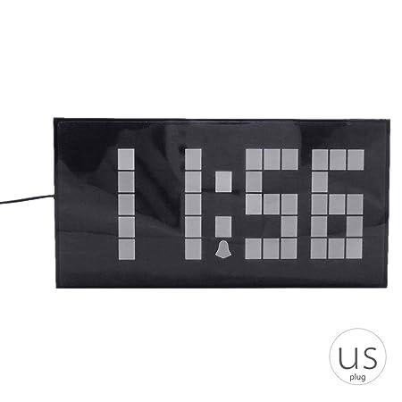 Amazon.com: Big Font - Reloj despertador digital LED con ...