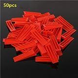 Vivona Hardware & Accessories 50Pcs Ceramic Tile Tiling Accessibility Spacer Clips/Wedges Plastic - (Size: #1)
