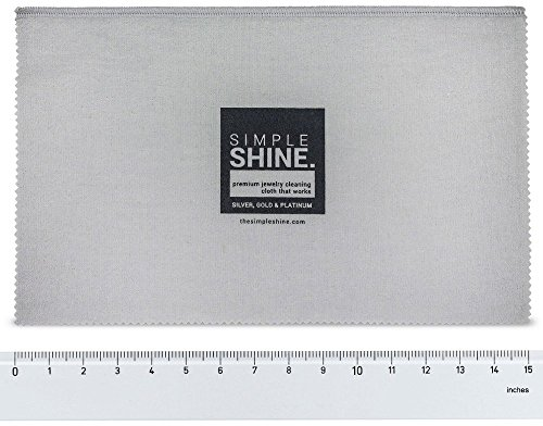Large Oversized Premium Jewelry Cleaning Cloth | Jewelry Polishing Cloth Cleaner Gold, Silver, Platinum by Simple Shine (Image #4)
