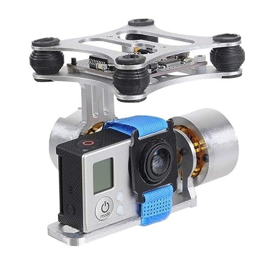 Gimbal Estabilizador de 2 ejes para panel de dron RC, aleación de ...