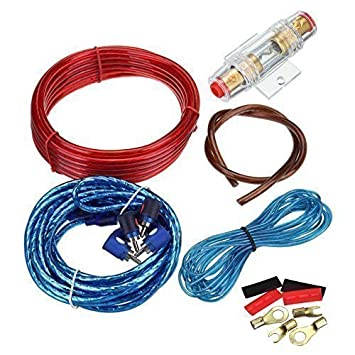 ridgeyard 1500w car amplifier wire wiring kit 10ga 60 amazon co uk rh amazon co uk car amp wiring kit ks-dr3001d car amp wiring kit for cheap