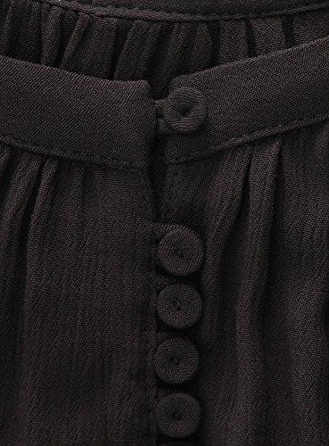 oodji Ultra Mujer Blusa de Viscosa Holgada Negro (2900N)