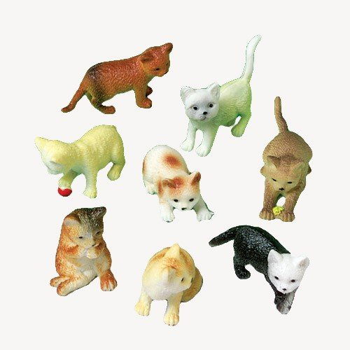 12 Mini Plastic CAT Figures/KITTEN Kitty TOYS/Birthday PARTY FAVORS/Prizes/CUPCAKE Toppers/Teacher Rewards