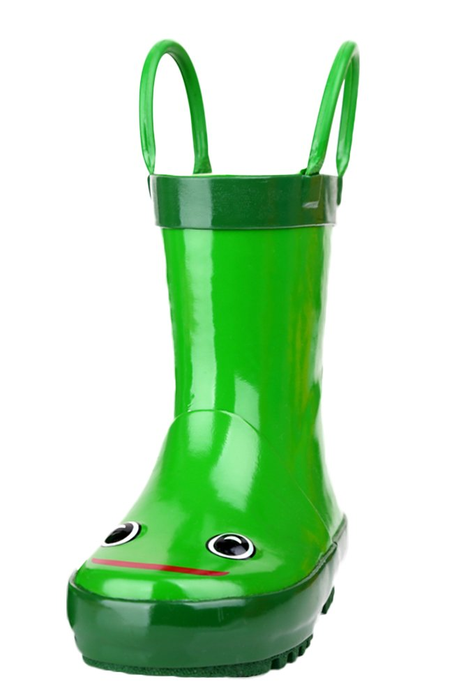 SK Studio Kinder Halbschaft Gummistiefel Frosch Regenstiefel Jungen Rutschfest Stiefeletten Mädchen Wasserdicht Schuhe Grün 35 EU 8W4Hlb