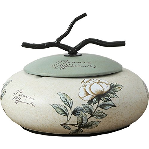 Price comparison product image Le fu yan Ashtray Ciga Household with lid ashtray creative ceramic large European style living room coffee table ashtray retro multi-purpose ashtray (Color : A)