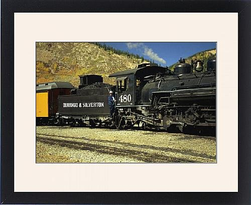 framed-print-of-the-train-driver-and-engine-of-the-durango-and-silverton