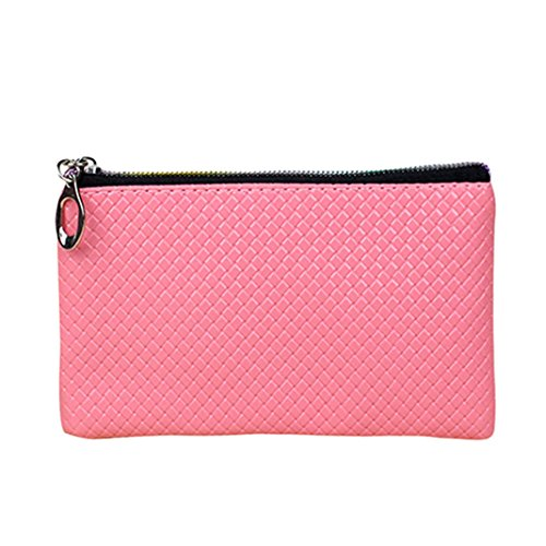 Faux Bodhi2000 Pink Womens Long Wallet Leather Zipper Womens Bodhi2000 t4zzO