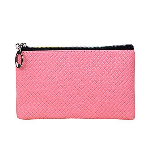 Zipper Faux Womens Bodhi2000 Leather Bodhi2000 Long Womens Pink Wallet z6PSXt