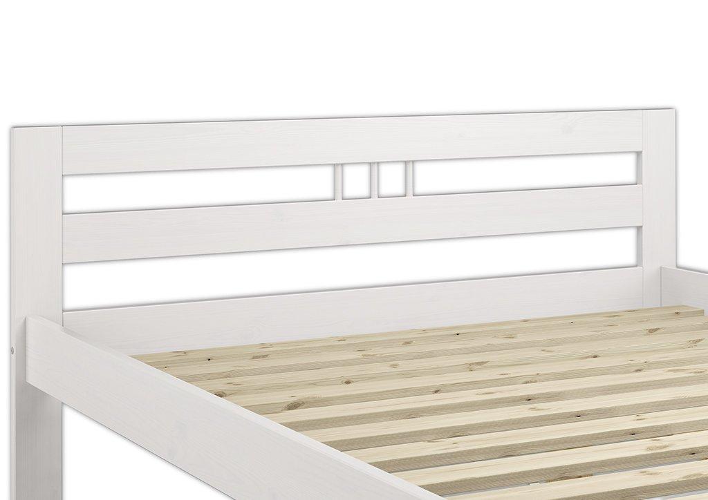 Jugendbett 140x200 holz weiss  Erst-Holz 60.65-14 W Modernes Doppelbett mit Rollrost - 140x200 ...