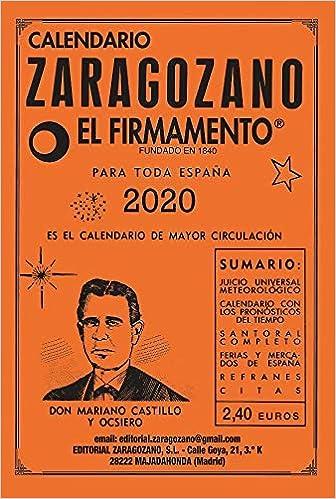 Calendario Zaragozano 2020: Amazon.es: Castillo y Ocsiero, Mariano ...
