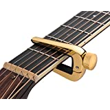 TimbreGear Universal classical 6 And 12 String Premium Guitar Capo Gold