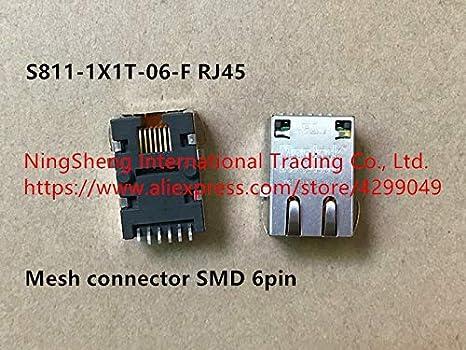 Davitu Original new 100% S811-1X1T-06-F RJ45 mesh connector patch foot - - Amazon.com