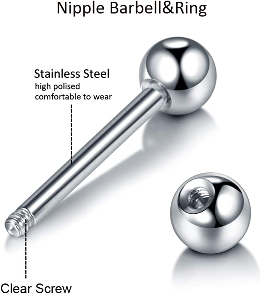 Stainless Steel Skull Ball Tongue Bars Rings Barbell Body Piercing  Jewelry FE