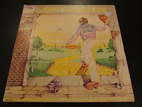 ELTON JOHN Goodbye Yellow Brick Road 2 LP vinyl US pressing 1973 tri-fold cover MCA2-10003 (Elton John Yellow Brick Road Yellow Vinyl)
