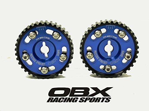(OBX Blue Adjustable Cam Gear Sprocket 85-87 Toyota Corolla 4A-(Z)GE (US-Spec), 1.6L 16 Valve (Ex/ In) DOHC 2Pcs)