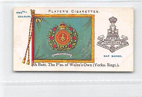 4th Batt. Yorkshire Regt 1910 Player Cigarettes Regimental - Batt Cap